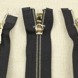 Молния KEE разъёмная, металлизированная, двухзамковая, 40 см, №5, чёрная