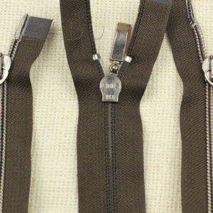 Молния ENIS разъёмная, металлизированная, двухзамковая, 40 см, №5, коричневая