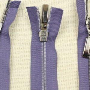 Молния ROZA разъёмная, металлизированная, двухзамковая, 50 см, №5, фиолетовая