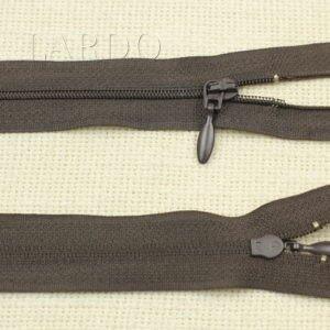 Молния разъёмная, двухзамковая, 27 см, №3, коричневая