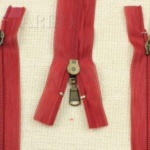 Молния UNIZIP разъёмная, двухзамковая, 65 см, №3, красная