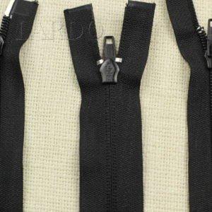 Молния UNIZIP разъёмная, двухзамковая, 55 см, №5, чёрная