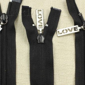 Молния LOVE разъёмная, двухзамковая, 65 см, №5, чёрная