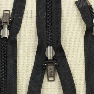 Молния LAMPO разъёмная, двухзамковая, реверс (перекидной бегунок), 77 см, №5, чёрная