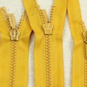 Молния LAMPO ТРАКТОР, разъёмная, двухзамковая, 75 см, №5, жёлтая