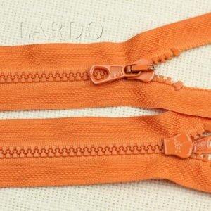 Молния LAMPO ТРАКТОР, разъёмная, однозамковая, 55 см, №5, оранжевая