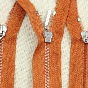 Молния LAMPO ТРАКТОР, разъёмная, двухзамковая, 80 см, №5, оранжевая