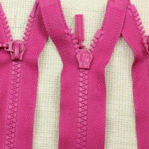 Молния SAB ТРАКТОР, разъёмная, двухзамковая, 57 см, №5, розовая