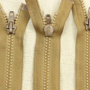 Молния ТРАКТОР, разъёмная, однозамковая, 55 см, №5, светло-коричневая