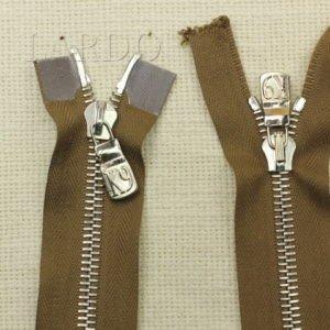 Молния Ri-Ri, разъёмная, двухзамковая, 75 см, №6, коричневая