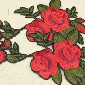 Аппликация красные розы, термо