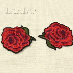 Аппликация красная роза, термо
