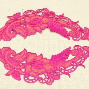 Аппликация розовые цветы вышивка гладью, термо