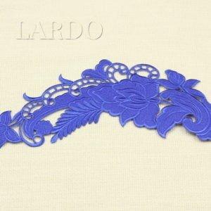 Аппликация синие цветы вышивка гладью, термо