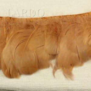 Тесьма куриное перо, коричневая