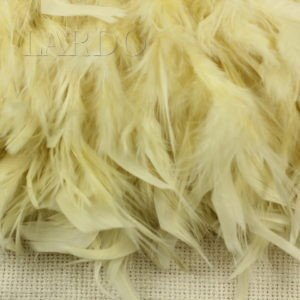 Тесьма куриное перо, светло-бежевая