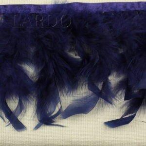 Тесьма куриное перо, синяя