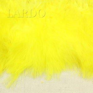 Тесьма лебяжий пух, светло-жёлтая