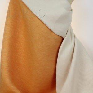 Лён с хлопком 2-х сторонний апельсиновый меланж
