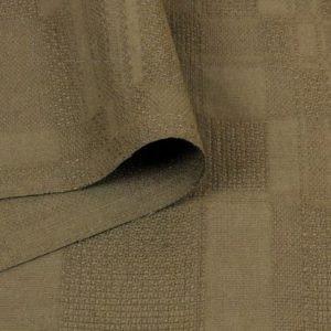 Жаккард льняной коричневый Италия Состав: лён 85 %, вискоза 15 % Плотность ≈ 210 г/м ² Ширина 148 см