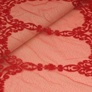 Кружево SOLSTISS красное шир. 39 см
