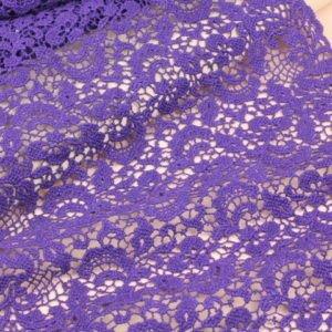Кружево фиолетовое хлопок шир. 32 см