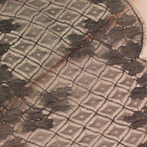 Кружево шантильи чёрное шир. 24 см