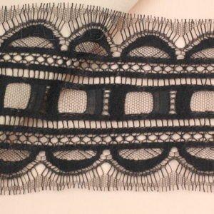 Кружево шантильи чёрное шир. 10,5 см