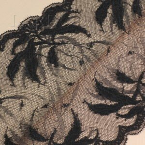 Кружево стретч чёрное шир. 16 см
