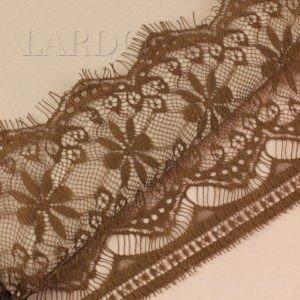 Кружево шантильи цвета корицы шир. 14 см