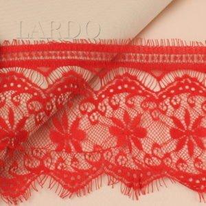 Кружево шантильи красное шир. 14 см