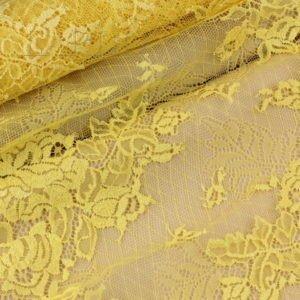 Кружево шантильи жёлтое шир. 25 см
