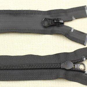 Молния YKK ВОДОНЕПРОНИЦАЕМАЯ, разъёмная, однозамковая, 40 см, №7, чёрная