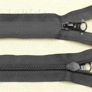 Молния YKK ВОДОНЕПРОНИЦАЕМАЯ, разъёмная, однозамковая, 62 см, №7, чёрная