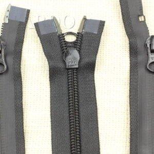 Молния YKK ВОДОНЕПРОНИЦАЕМАЯ, разъёмная, двухзамковая, 112 см, №7, чёрная