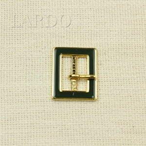 Пряжка золотистая классика, беж, металл 3,2 см х 4,7 см