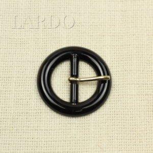 Пряжка круглая чёрная пластик/металл ∅ 5 см