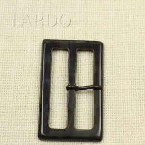 Пряжка коричневая рог классика 4,4 см x 7,4 см
