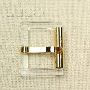 Пряжка прозрачная MICHAEL KORS пластик/металл 5 см x 6,5 см