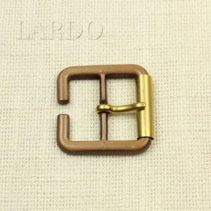 Пряжка коричневая пластик/металл матовое золото 4,5 см x 4,0 см