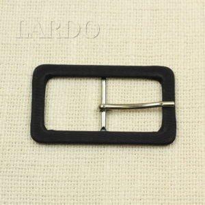 Пряжка чёрная репс/металл цвета никель прямоугольная 7 см x 4 см