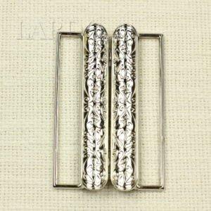 Пряжка разъёмная металл цвета никель 5,3 см x 8,5 см