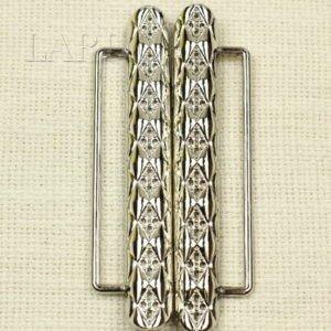 Пряжка разъёмная металл цвета никель 4,9 см x 10,5 см