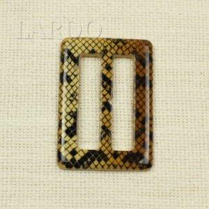 Пряжка рептилия пластик 4,5 см x 6,7 см