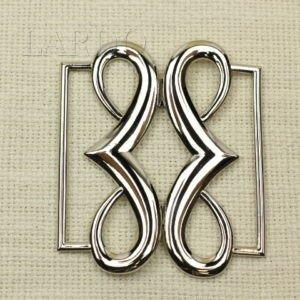 Пряжка разъёмная металл цвета никель 7 см x 8,5 см