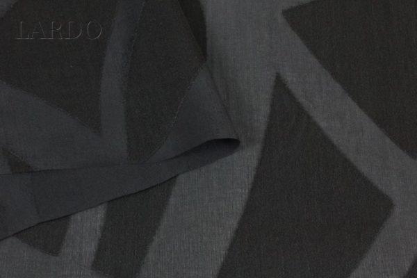 Шёлк деворе чёрный