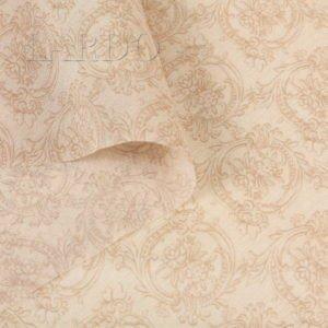 Шифон стретч шёлковый персиковый орнамент