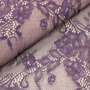 Кружево стретч фиолет шир. 16 см