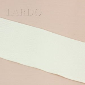 Репсовая лента молочная шир. 7 см