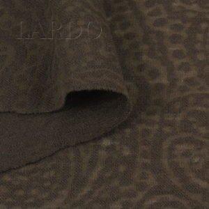 Трикотаж ажурный шерстяной коричневый